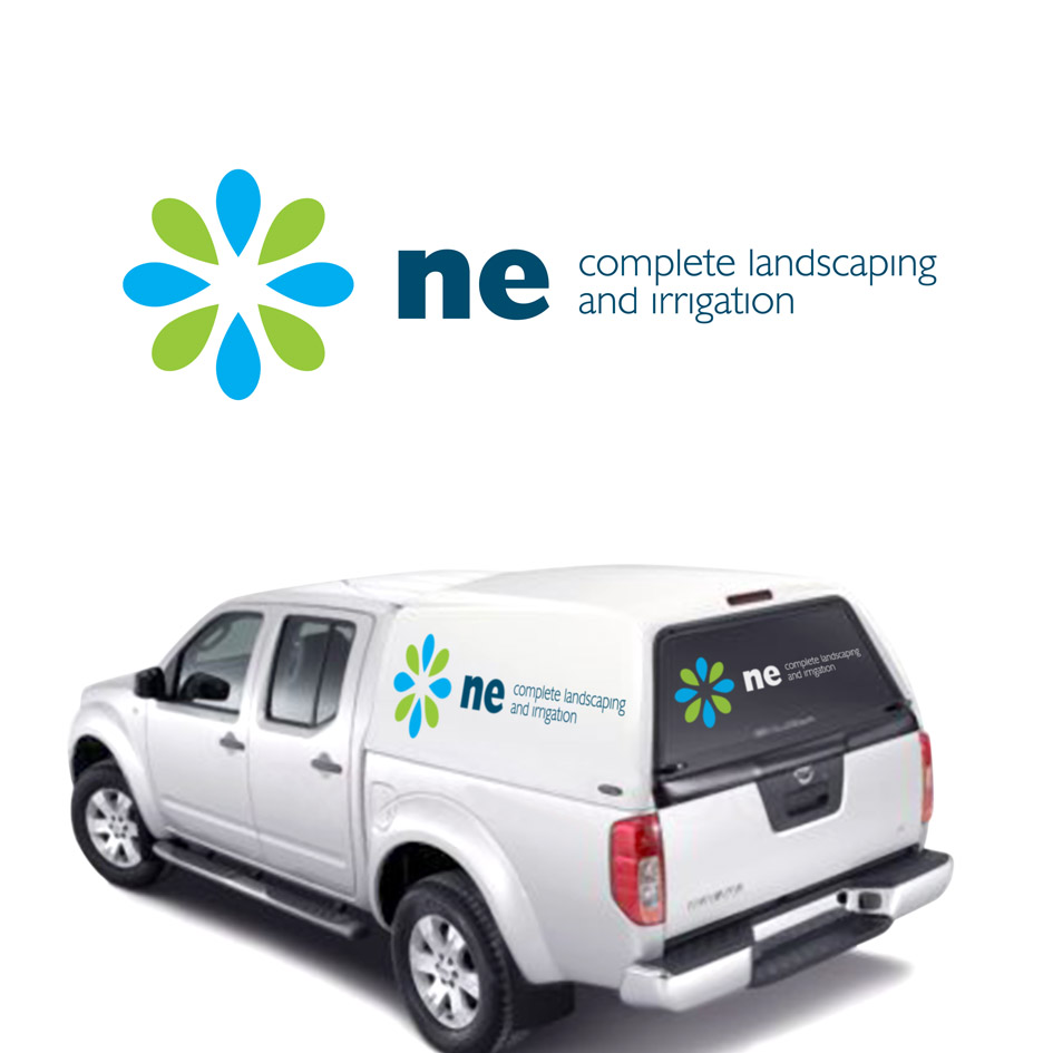 Logo Design by ARTUR PALKA - Entry No. 42 in the Logo Design Contest Fun Logo Design for ne complete landscaping and irrigation.