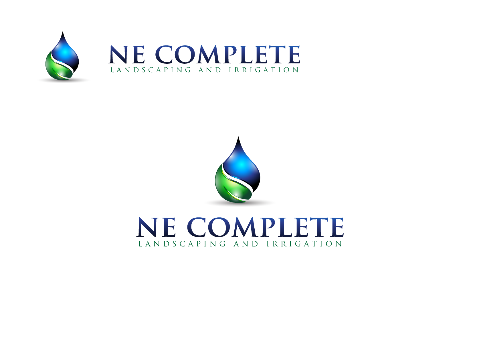 Logo Design by G.DRACHIT - Entry No. 43 in the Logo Design Contest Fun Logo Design for ne complete landscaping and irrigation.