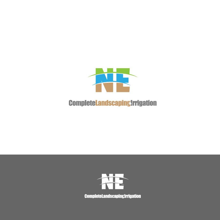 Logo Design by zesthar - Entry No. 45 in the Logo Design Contest Fun Logo Design for ne complete landscaping and irrigation.