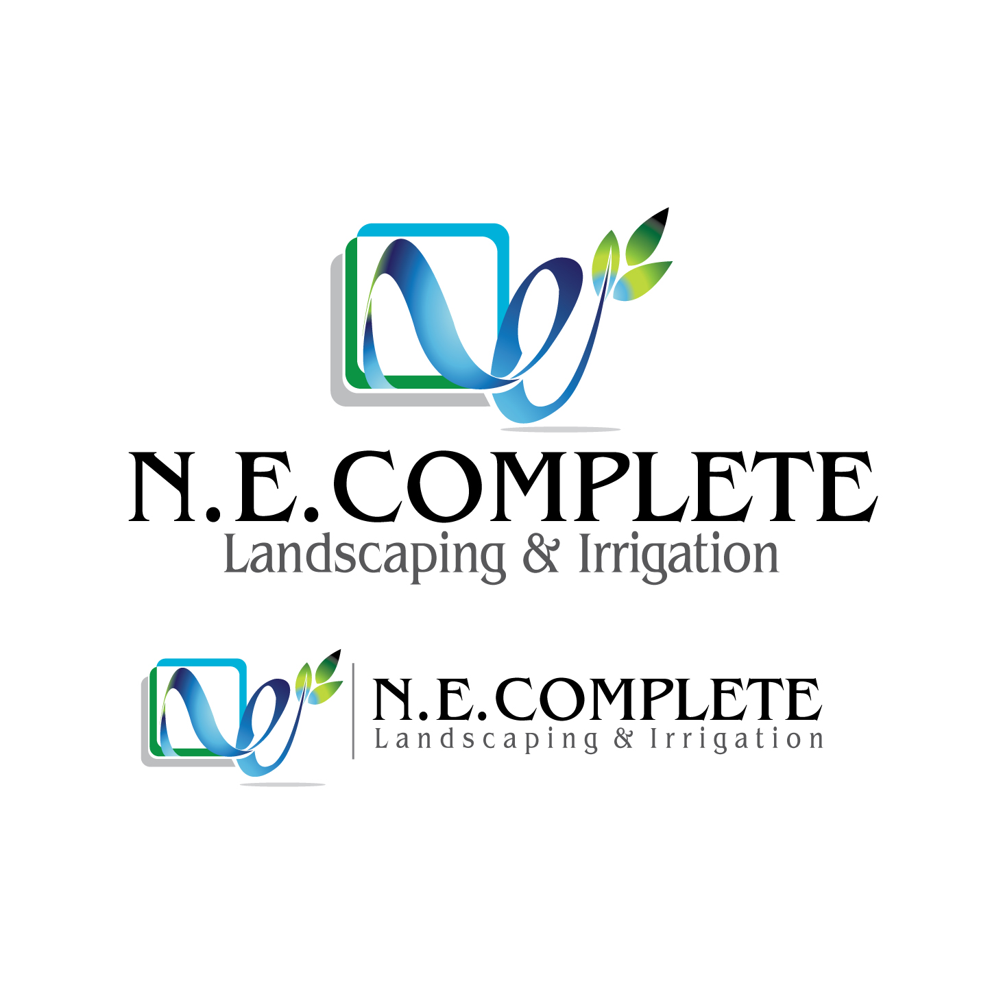 Logo Design by stormbighit - Entry No. 46 in the Logo Design Contest Fun Logo Design for ne complete landscaping and irrigation.