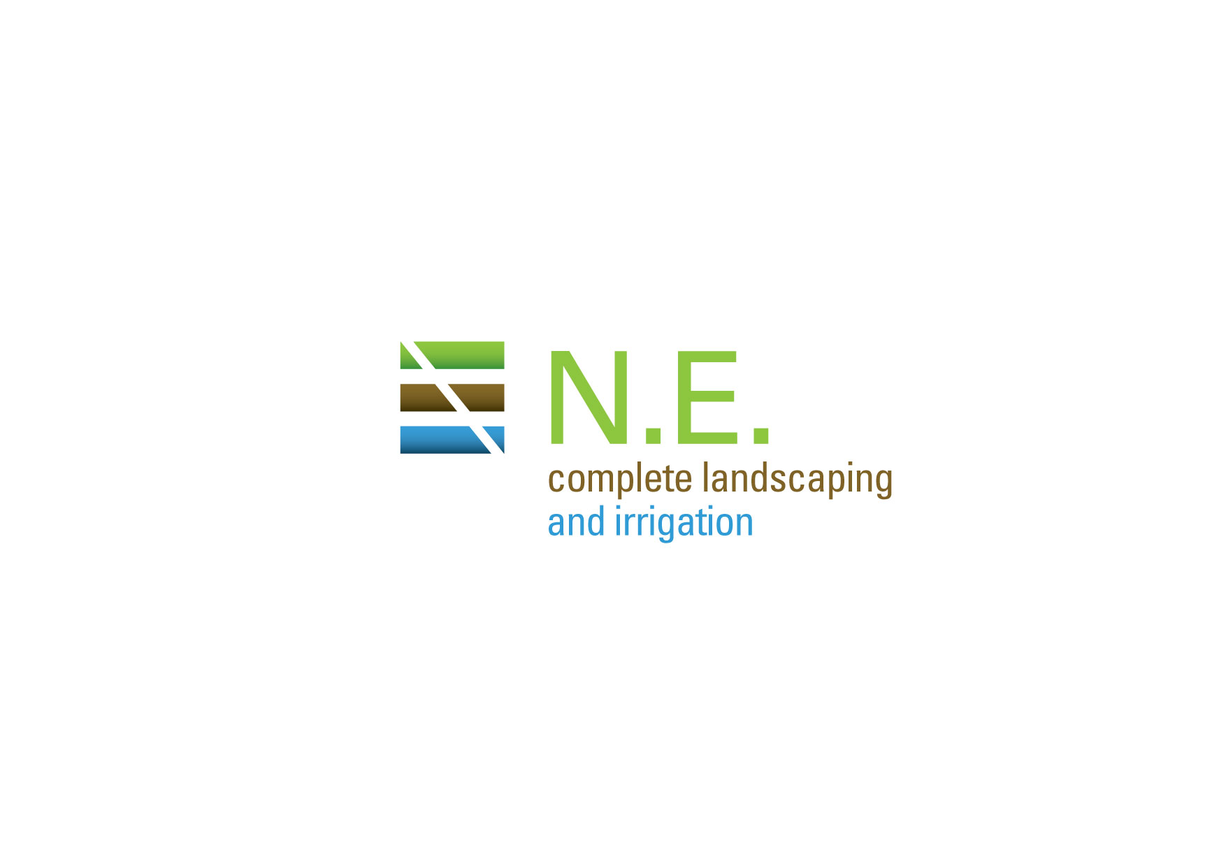 Logo Design by msdeejay - Entry No. 47 in the Logo Design Contest Fun Logo Design for ne complete landscaping and irrigation.
