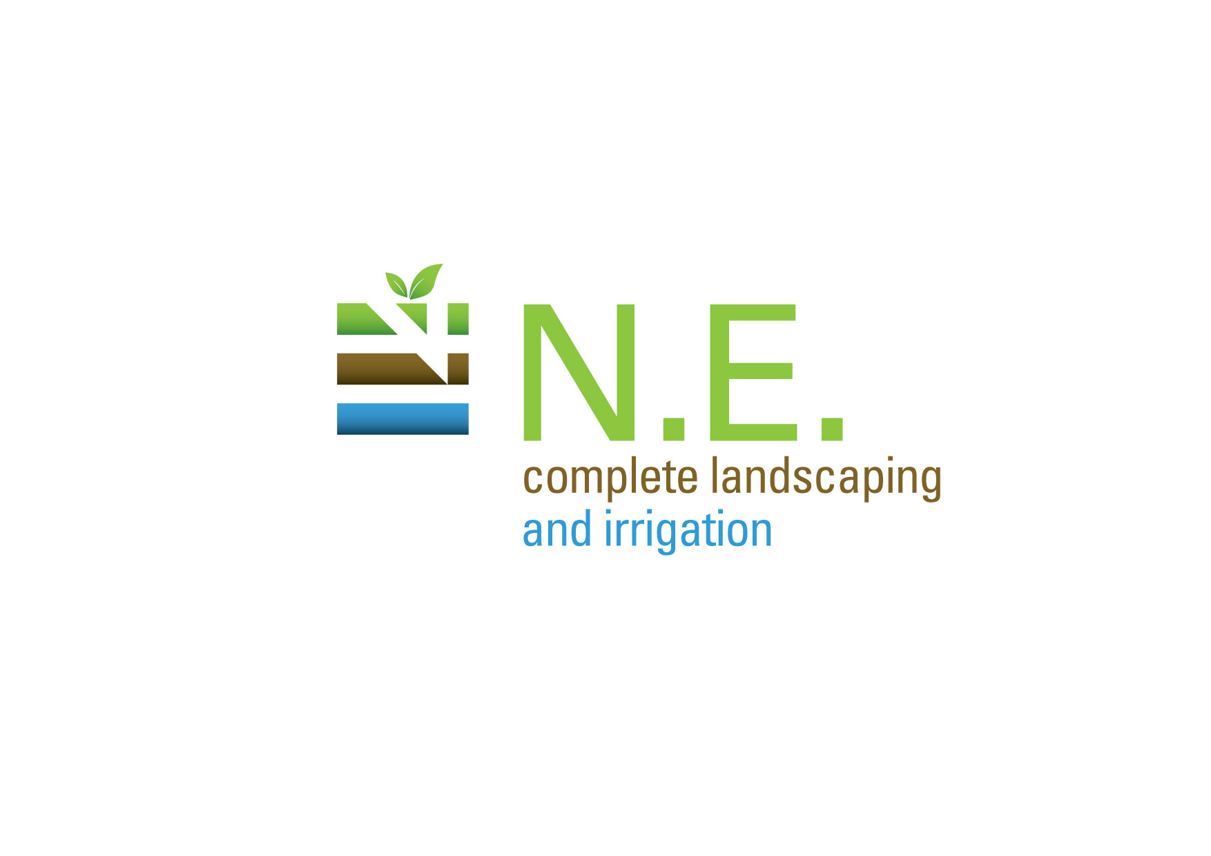 Logo Design by msdeejay - Entry No. 48 in the Logo Design Contest Fun Logo Design for ne complete landscaping and irrigation.