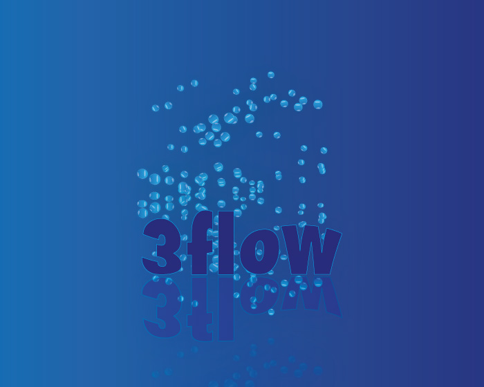 Logo Design by Diana Roder - Entry No. 7 in the Logo Design Contest Fun Logo Design for 3flow.