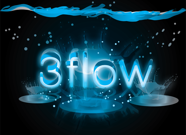 Logo Design by Md Iftekharul Islam Pavel - Entry No. 21 in the Logo Design Contest Fun Logo Design for 3flow.