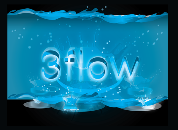 Logo Design by Md Iftekharul Islam Pavel - Entry No. 22 in the Logo Design Contest Fun Logo Design for 3flow.