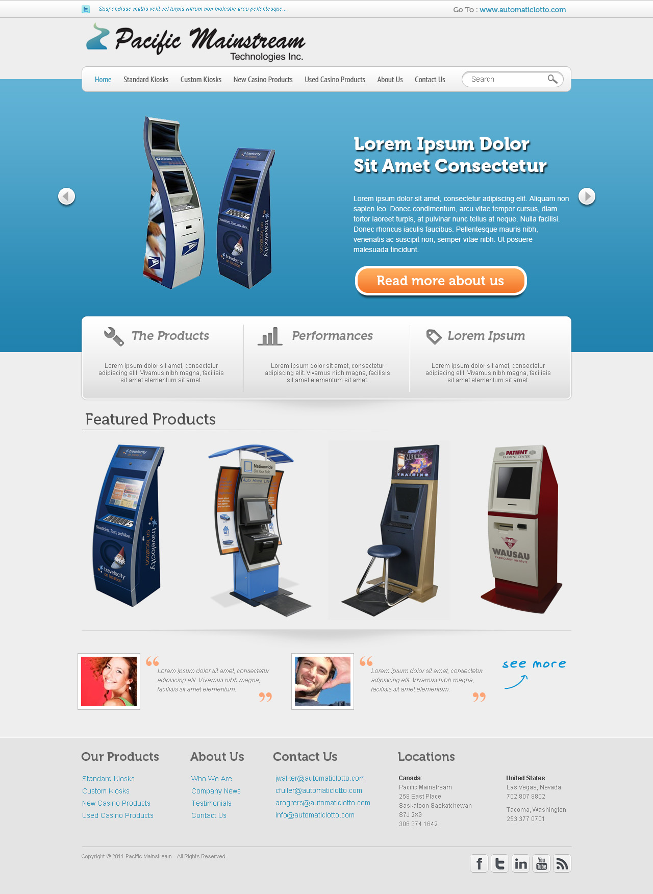 Web Page Design by Verdy Verdiansya - Entry No. 10 in the Web Page Design Contest Fun Web Page Design for Mainstream Pacific Technologies Inc..
