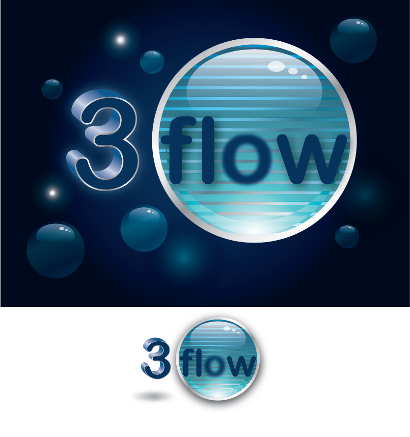 Logo Design by Private User - Entry No. 27 in the Logo Design Contest Fun Logo Design for 3flow.