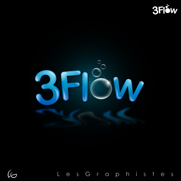 Logo Design by Les-Graphistes - Entry No. 39 in the Logo Design Contest Fun Logo Design for 3flow.