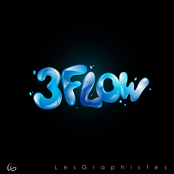 Logo Design by Les-Graphistes - Entry No. 44 in the Logo Design Contest Fun Logo Design for 3flow.