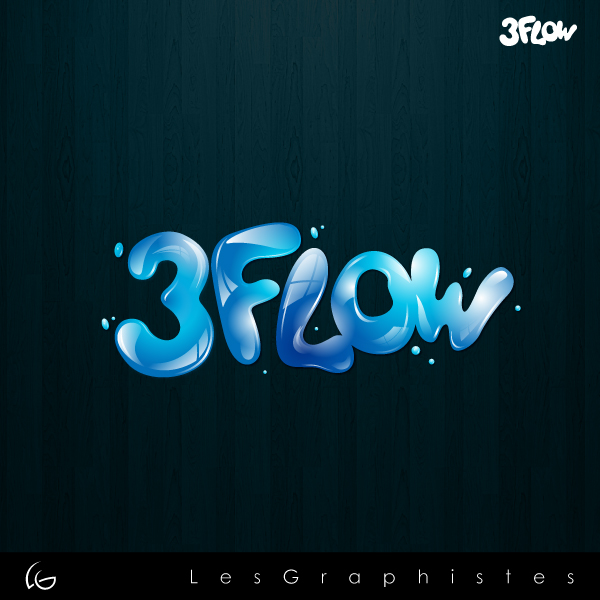 Logo Design by Les-Graphistes - Entry No. 45 in the Logo Design Contest Fun Logo Design for 3flow.