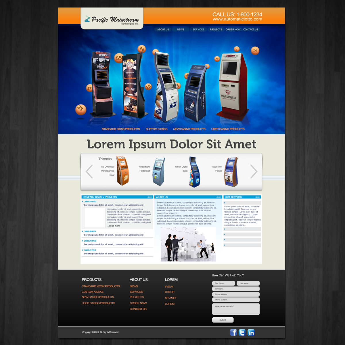 Web Page Design by storm - Entry No. 12 in the Web Page Design Contest Fun Web Page Design for Mainstream Pacific Technologies Inc..
