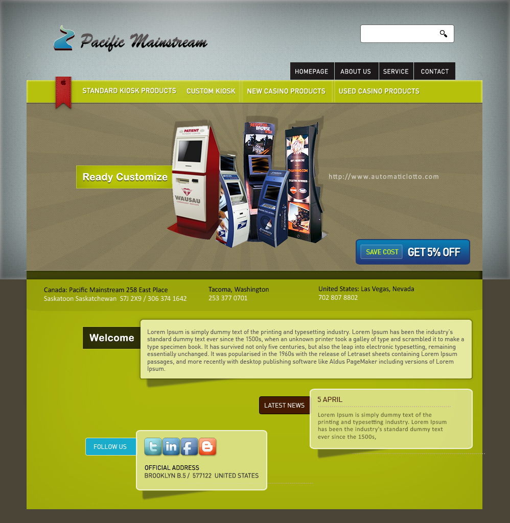 Web Page Design by cekotaste - Entry No. 13 in the Web Page Design Contest Fun Web Page Design for Mainstream Pacific Technologies Inc..