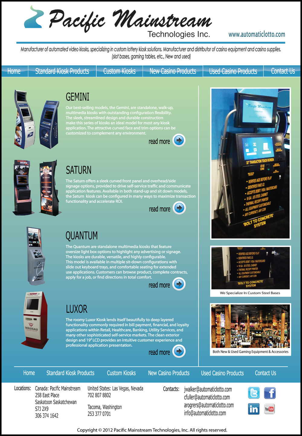 Web Page Design by Lefky - Entry No. 14 in the Web Page Design Contest Fun Web Page Design for Mainstream Pacific Technologies Inc..