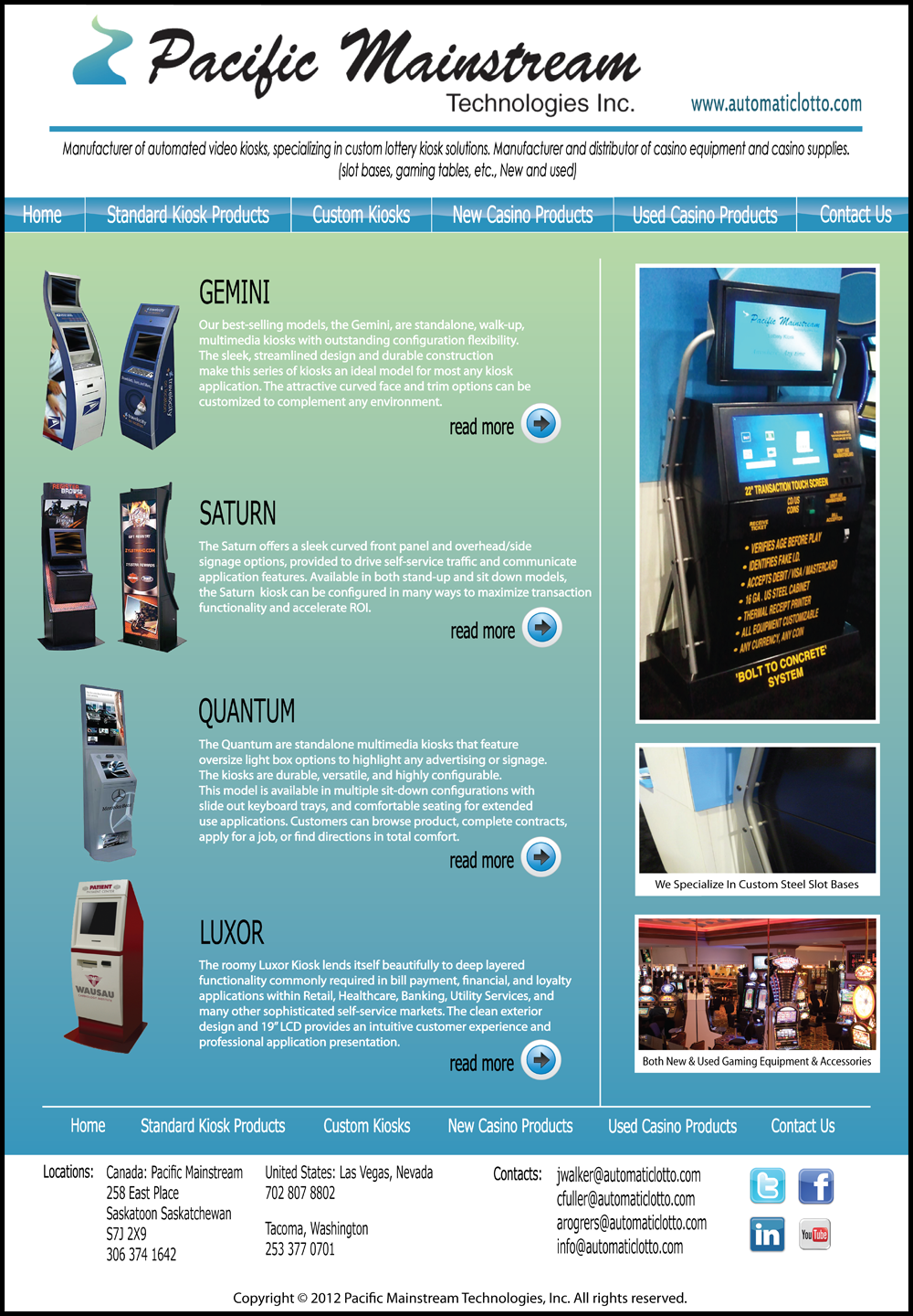 Web Page Design by Lefky - Entry No. 18 in the Web Page Design Contest Fun Web Page Design for Mainstream Pacific Technologies Inc..