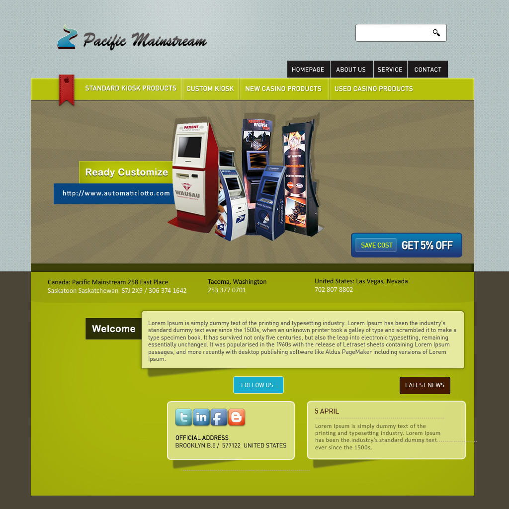 Web Page Design by cekotaste - Entry No. 19 in the Web Page Design Contest Fun Web Page Design for Mainstream Pacific Technologies Inc..
