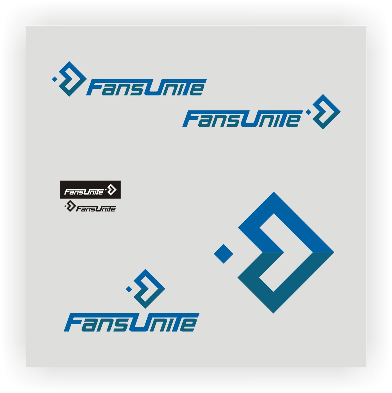 Logo Design by Private User - Entry No. 51 in the Logo Design Contest Logo Design Needed for Exciting New Company FansUnite.