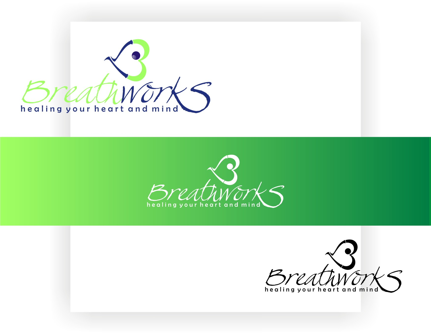 Logo Design by Private User - Entry No. 43 in the Logo Design Contest New Logo Design for Breathworks.
