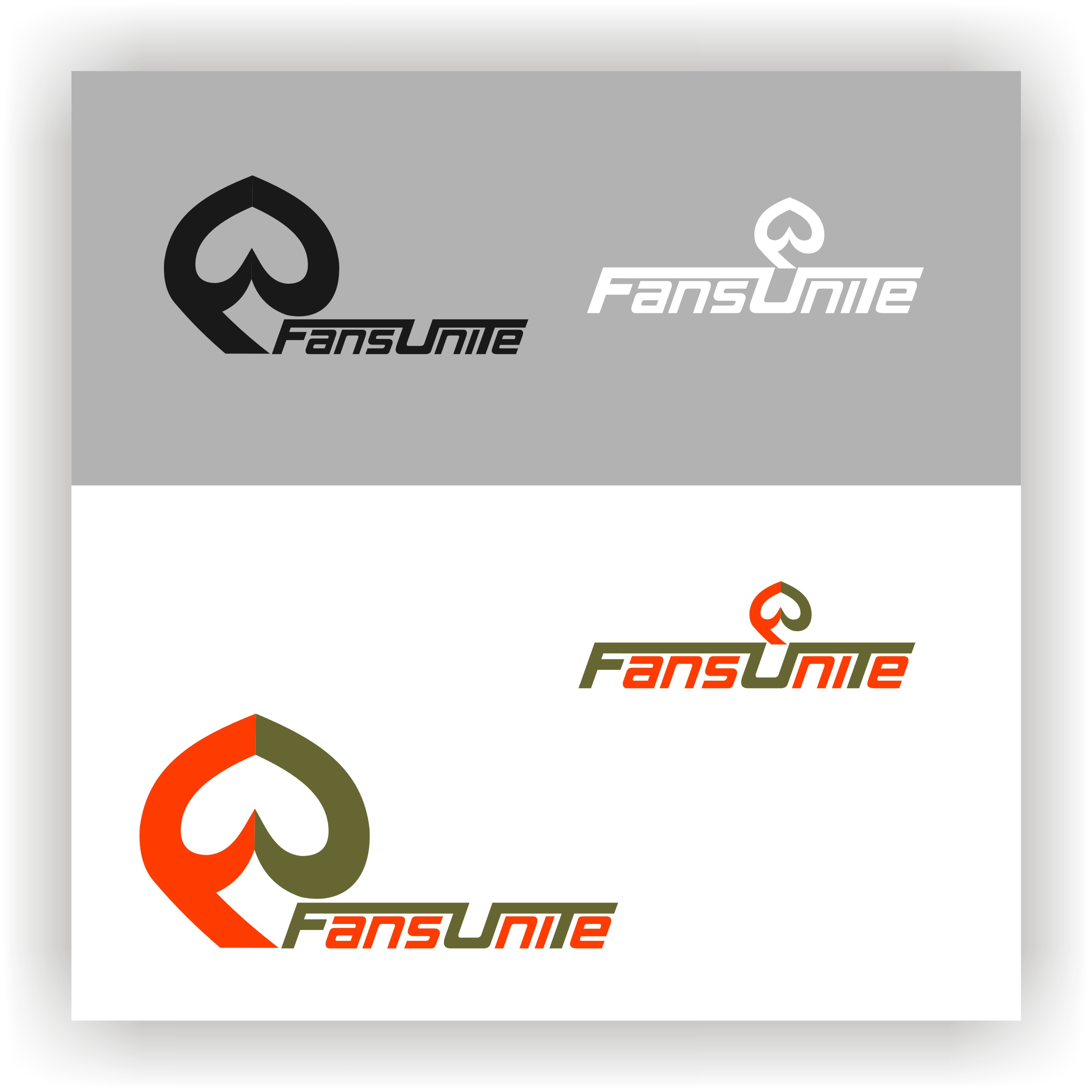Logo Design by Private User - Entry No. 62 in the Logo Design Contest Logo Design Needed for Exciting New Company FansUnite.