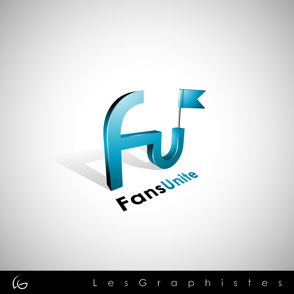 Logo Design by Les-Graphistes - Entry No. 116 in the Logo Design Contest Logo Design Needed for Exciting New Company FansUnite.