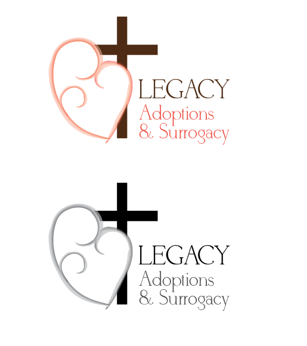 Logo Design by Jessica Wenrich - Entry No. 22 in the Logo Design Contest Legacy Adoptions and Surrogacy Logo Design.