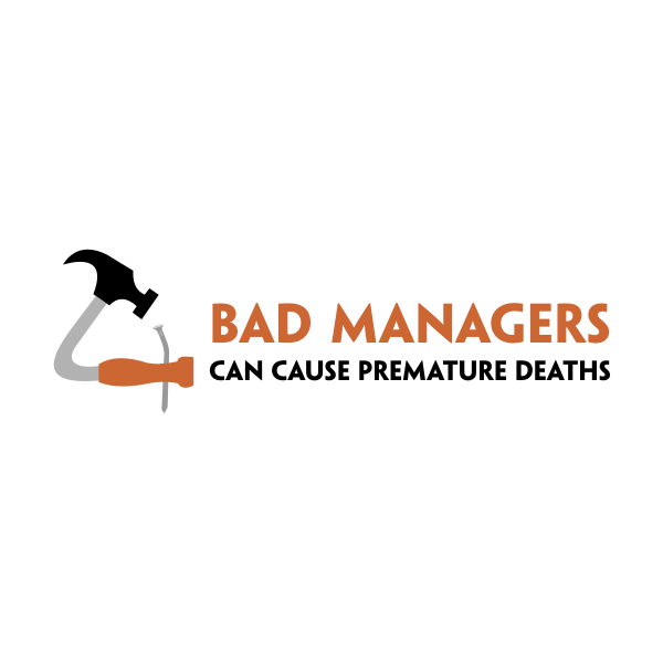 Logo Design by Rudy - Entry No. 7 in the Logo Design Contest Unique Logo Design Wanted for Bad Managers Can Cause Premature Deaths.
