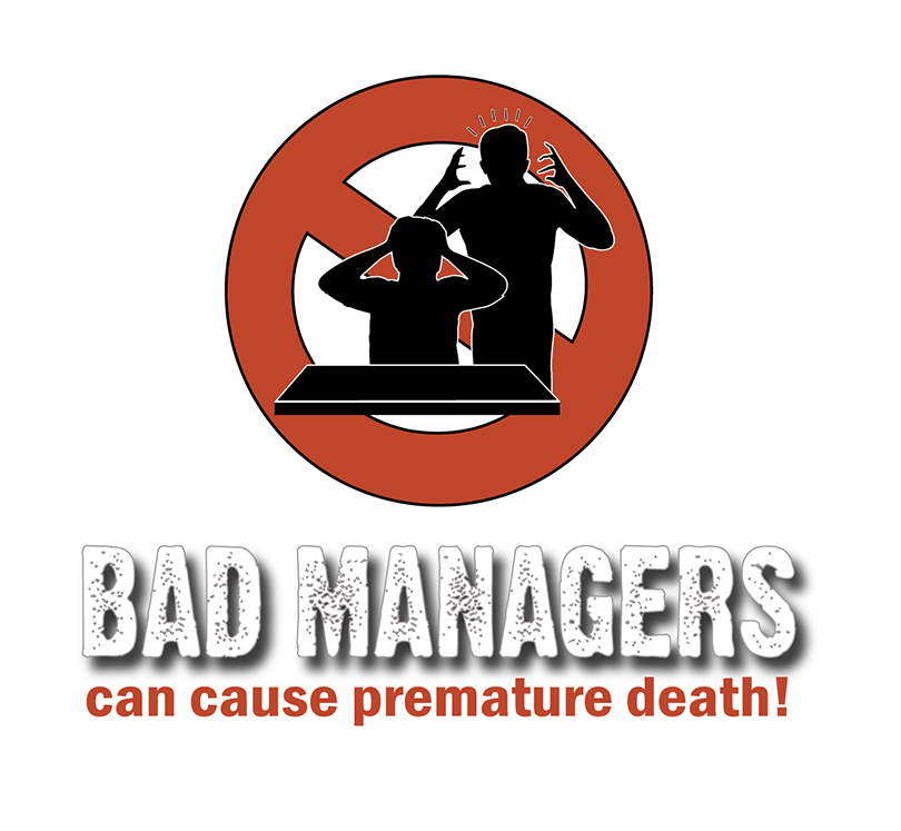 Logo Design by robken0174 - Entry No. 8 in the Logo Design Contest Unique Logo Design Wanted for Bad Managers Can Cause Premature Deaths.