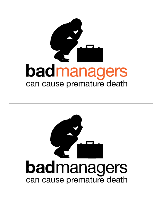 Logo Design by Jessica Wenrich - Entry No. 9 in the Logo Design Contest Unique Logo Design Wanted for Bad Managers Can Cause Premature Deaths.