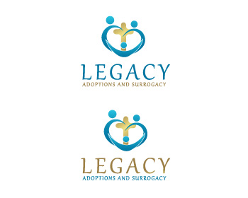 Logo Design by ddamian_dd - Entry No. 58 in the Logo Design Contest Legacy Adoptions and Surrogacy Logo Design.