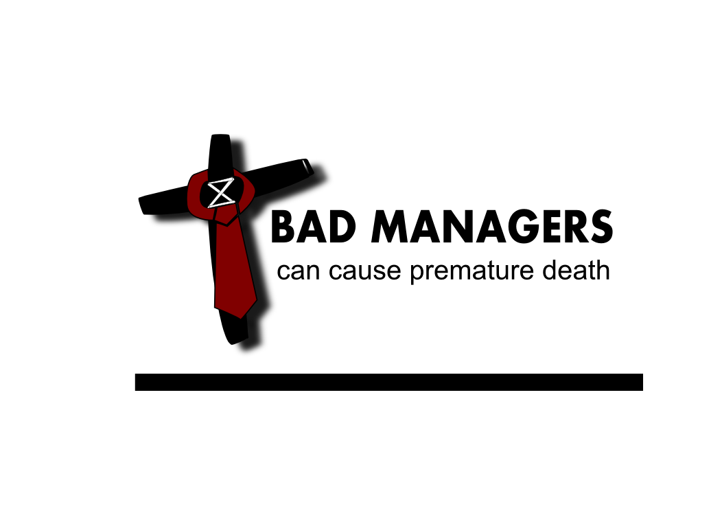 Logo Design by whoosef - Entry No. 13 in the Logo Design Contest Unique Logo Design Wanted for Bad Managers Can Cause Premature Deaths.