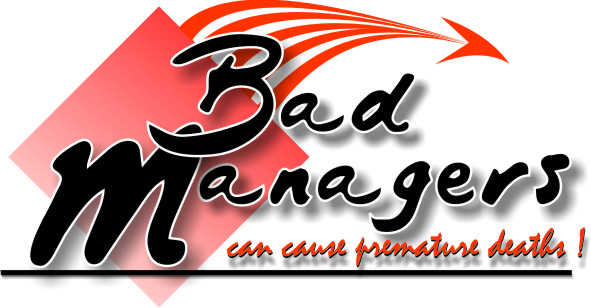 Logo Design by Dx - Entry No. 14 in the Logo Design Contest Unique Logo Design Wanted for Bad Managers Can Cause Premature Deaths.