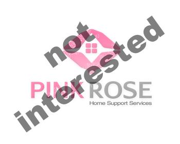 Logo Design by Esteban Batista - Entry No. 47 in the Logo Design Contest Pink Rose Home Support Services.