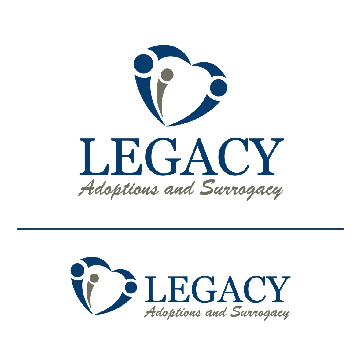 Logo Design by arteo_design - Entry No. 107 in the Logo Design Contest Legacy Adoptions and Surrogacy Logo Design.