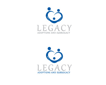 Logo Design by ddamian_dd - Entry No. 109 in the Logo Design Contest Legacy Adoptions and Surrogacy Logo Design.