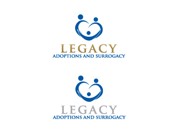 Logo Design by ddamian_dd - Entry No. 110 in the Logo Design Contest Legacy Adoptions and Surrogacy Logo Design.