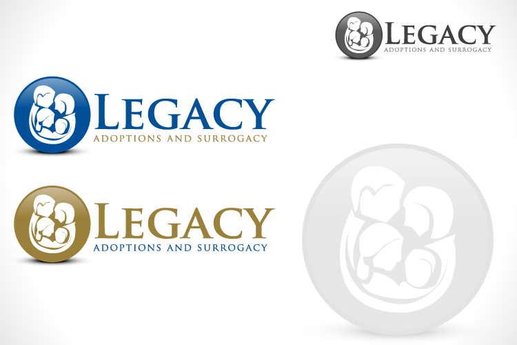 Logo Design by Fahad Khalid - Entry No. 122 in the Logo Design Contest Legacy Adoptions and Surrogacy Logo Design.