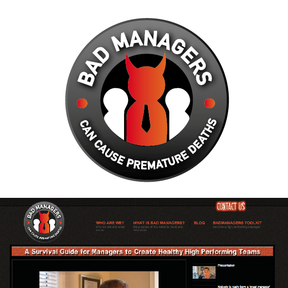 Logo Design by limix - Entry No. 20 in the Logo Design Contest Unique Logo Design Wanted for Bad Managers Can Cause Premature Deaths.