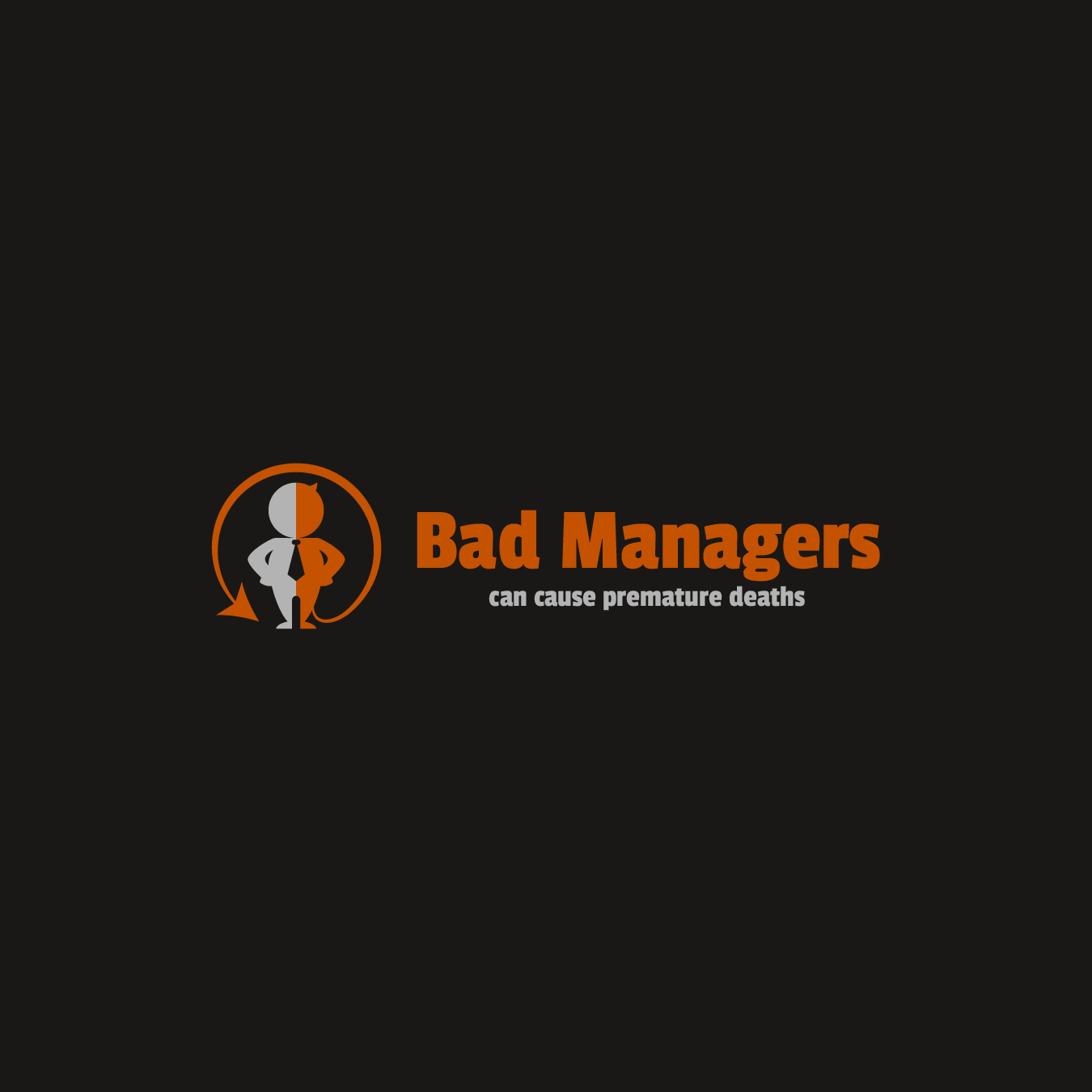 Logo Design by zesthar - Entry No. 24 in the Logo Design Contest Unique Logo Design Wanted for Bad Managers Can Cause Premature Deaths.
