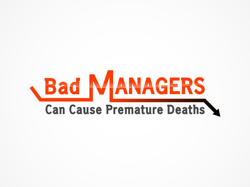 Logo Design by Niki_e_Z - Entry No. 28 in the Logo Design Contest Unique Logo Design Wanted for Bad Managers Can Cause Premature Deaths.