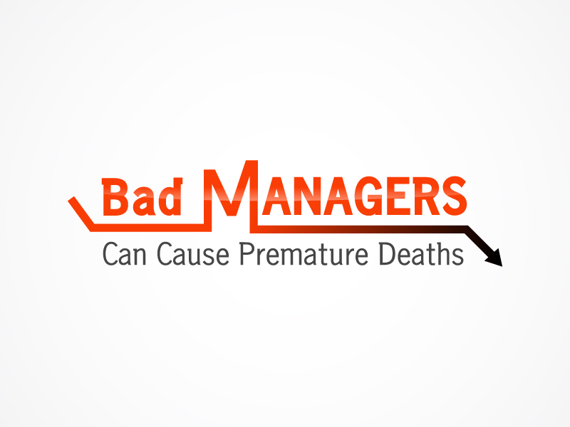 Logo Design by Niki_e_Z - Entry No. 29 in the Logo Design Contest Unique Logo Design Wanted for Bad Managers Can Cause Premature Deaths.