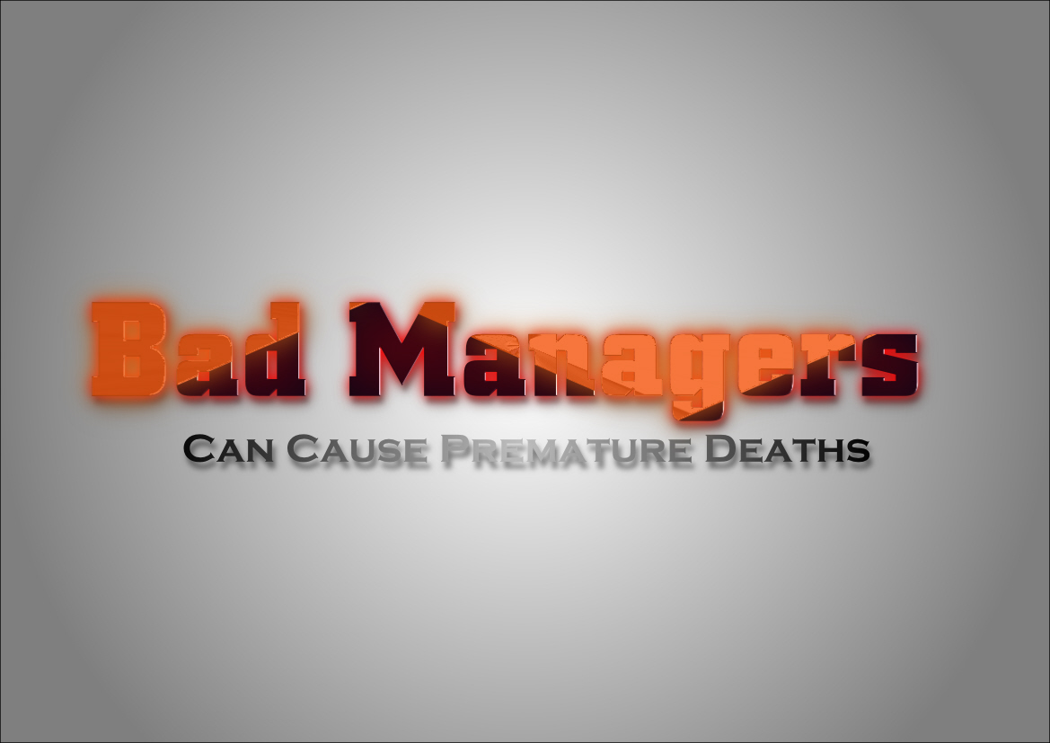Logo Design by Heri Susanto - Entry No. 42 in the Logo Design Contest Unique Logo Design Wanted for Bad Managers Can Cause Premature Deaths.