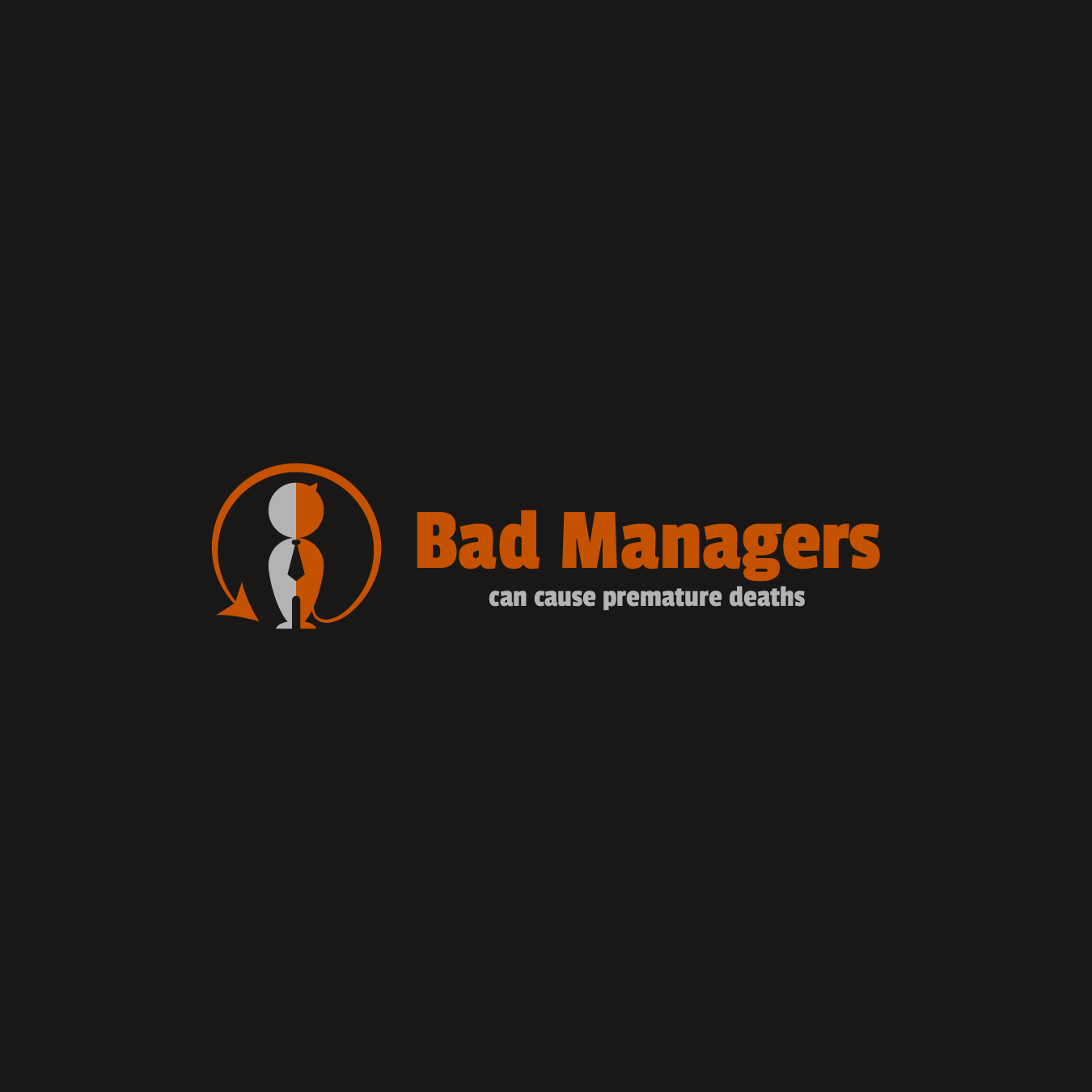 Logo Design by zesthar - Entry No. 46 in the Logo Design Contest Unique Logo Design Wanted for Bad Managers Can Cause Premature Deaths.