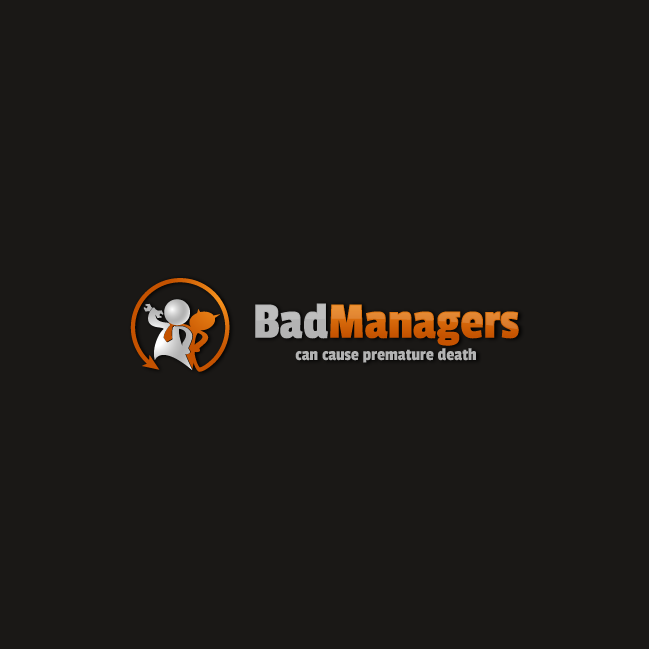 Logo Design by zesthar - Entry No. 49 in the Logo Design Contest Unique Logo Design Wanted for Bad Managers Can Cause Premature Deaths.