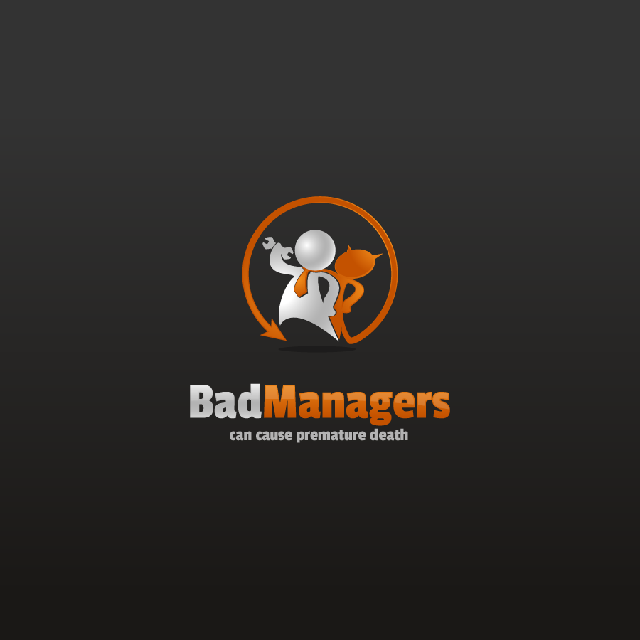Logo Design by zesthar - Entry No. 50 in the Logo Design Contest Unique Logo Design Wanted for Bad Managers Can Cause Premature Deaths.