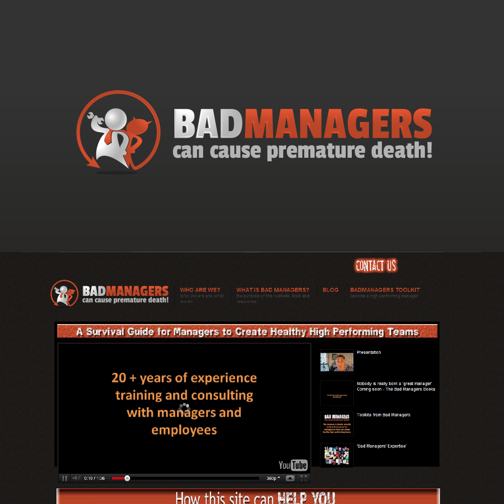Logo Design by zesthar - Entry No. 52 in the Logo Design Contest Unique Logo Design Wanted for Bad Managers Can Cause Premature Deaths.
