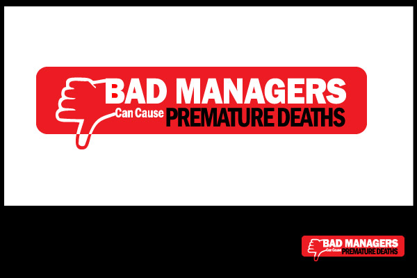 Logo Design by Private User - Entry No. 54 in the Logo Design Contest Unique Logo Design Wanted for Bad Managers Can Cause Premature Deaths.