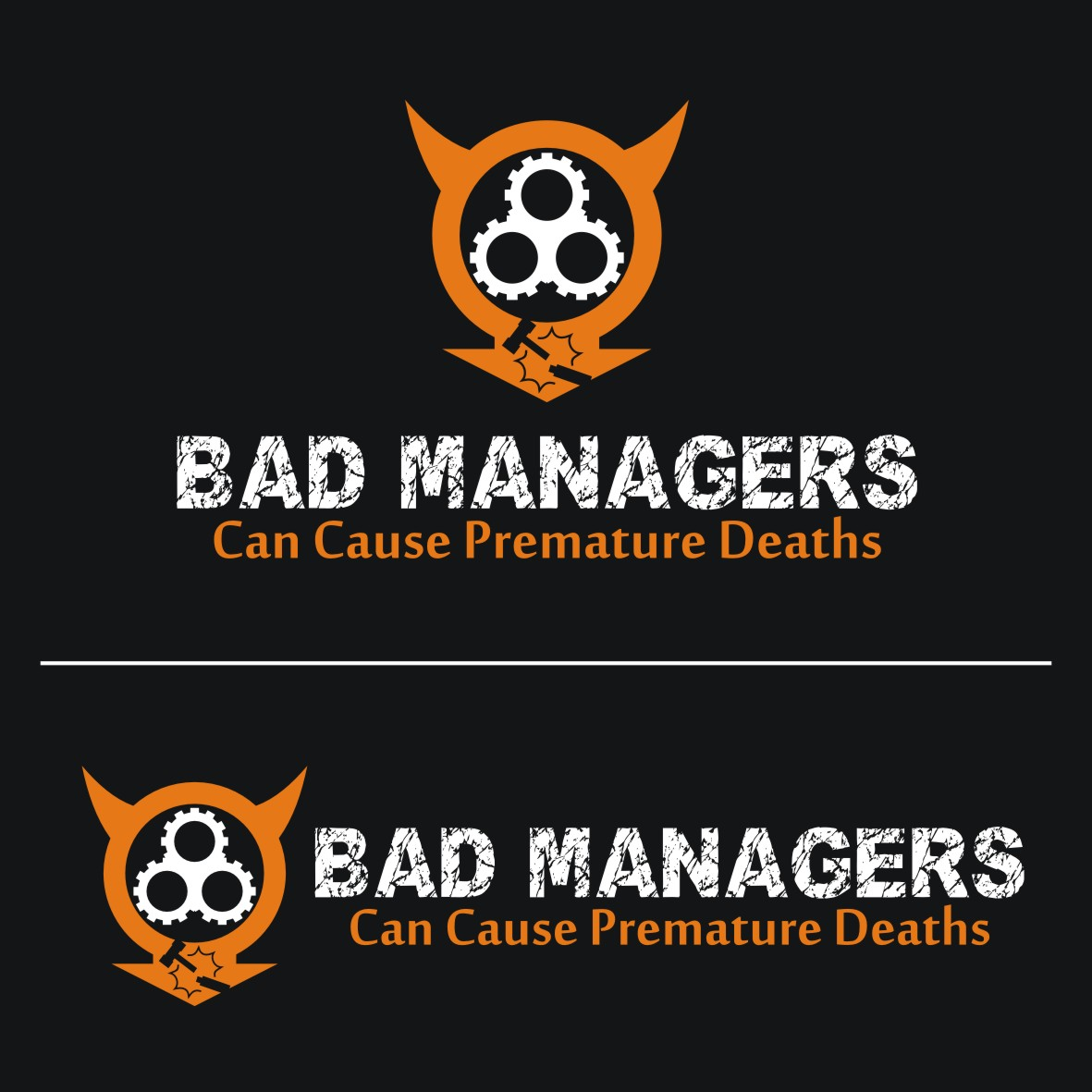 Logo Design by arteo_design - Entry No. 66 in the Logo Design Contest Unique Logo Design Wanted for Bad Managers Can Cause Premature Deaths.