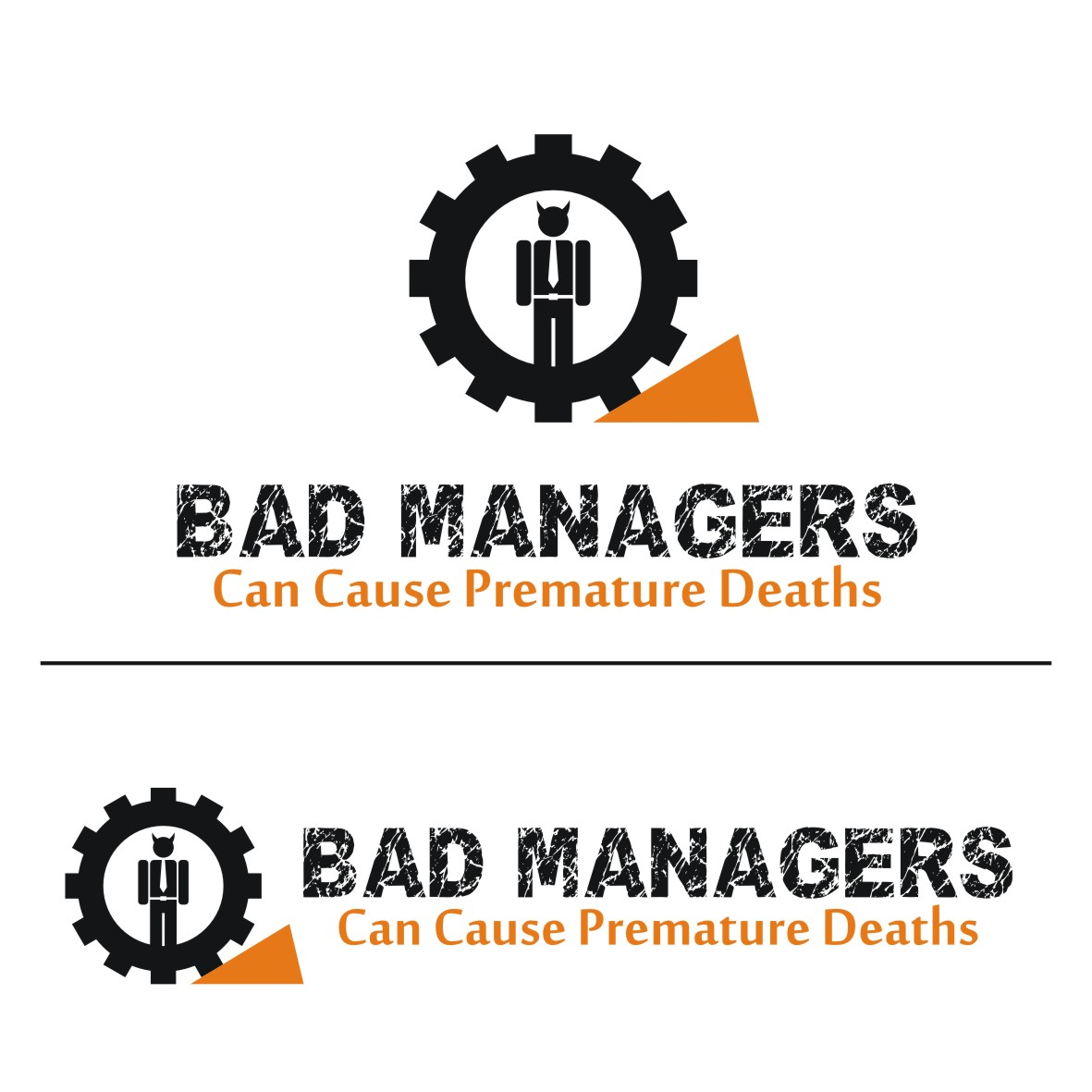 Logo Design by arteo_design - Entry No. 68 in the Logo Design Contest Unique Logo Design Wanted for Bad Managers Can Cause Premature Deaths.