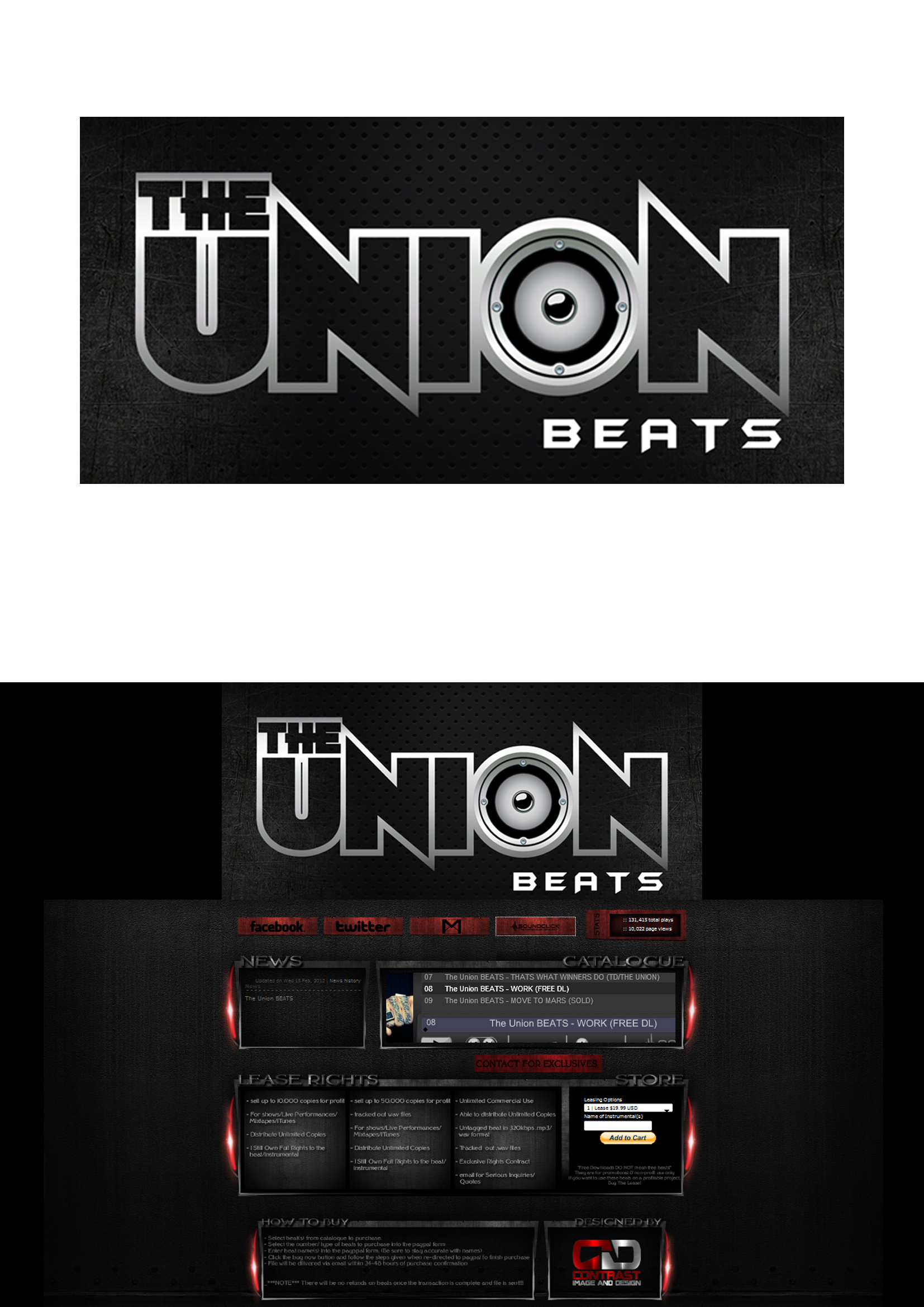 Logo Design by Private User - Entry No. 76 in the Logo Design Contest Unique Logo Design Wanted for THE UNION BEATS.