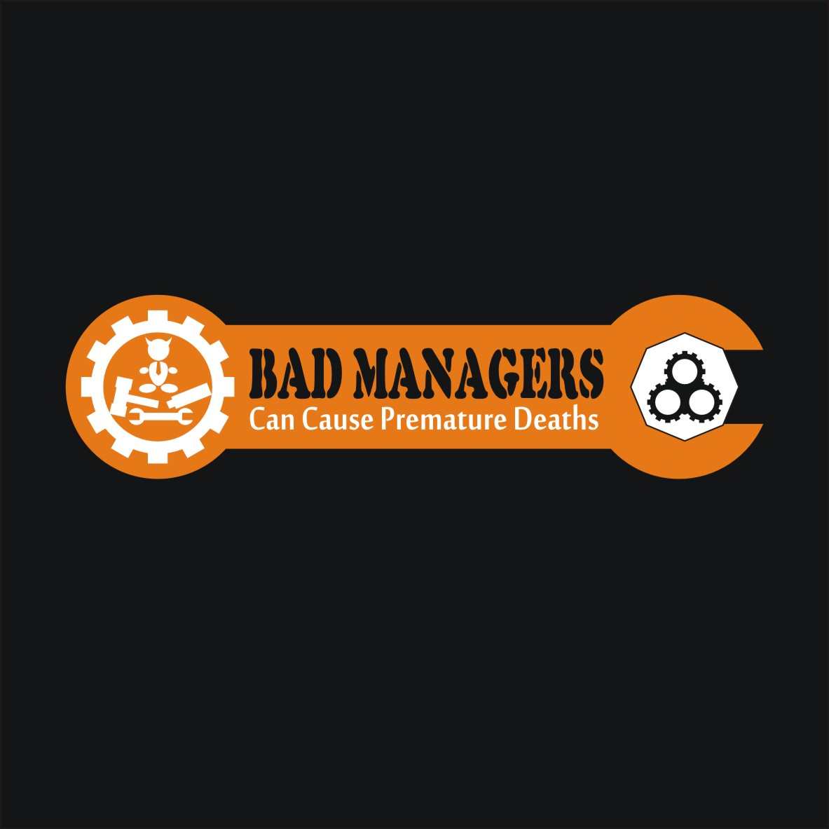 Logo Design by arteo_design - Entry No. 73 in the Logo Design Contest Unique Logo Design Wanted for Bad Managers Can Cause Premature Deaths.