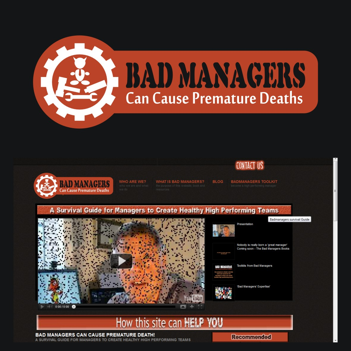 Logo Design by arteo_design - Entry No. 75 in the Logo Design Contest Unique Logo Design Wanted for Bad Managers Can Cause Premature Deaths.